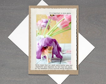 Cat Lady All Occasion Greeting Card • Card for Cat Lovers • Funny Cat Card • Blank Inside Greeting Card • Animal Tales Collection