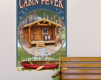 Cabin Fever Canoe Vignette Wall Decal - #60661