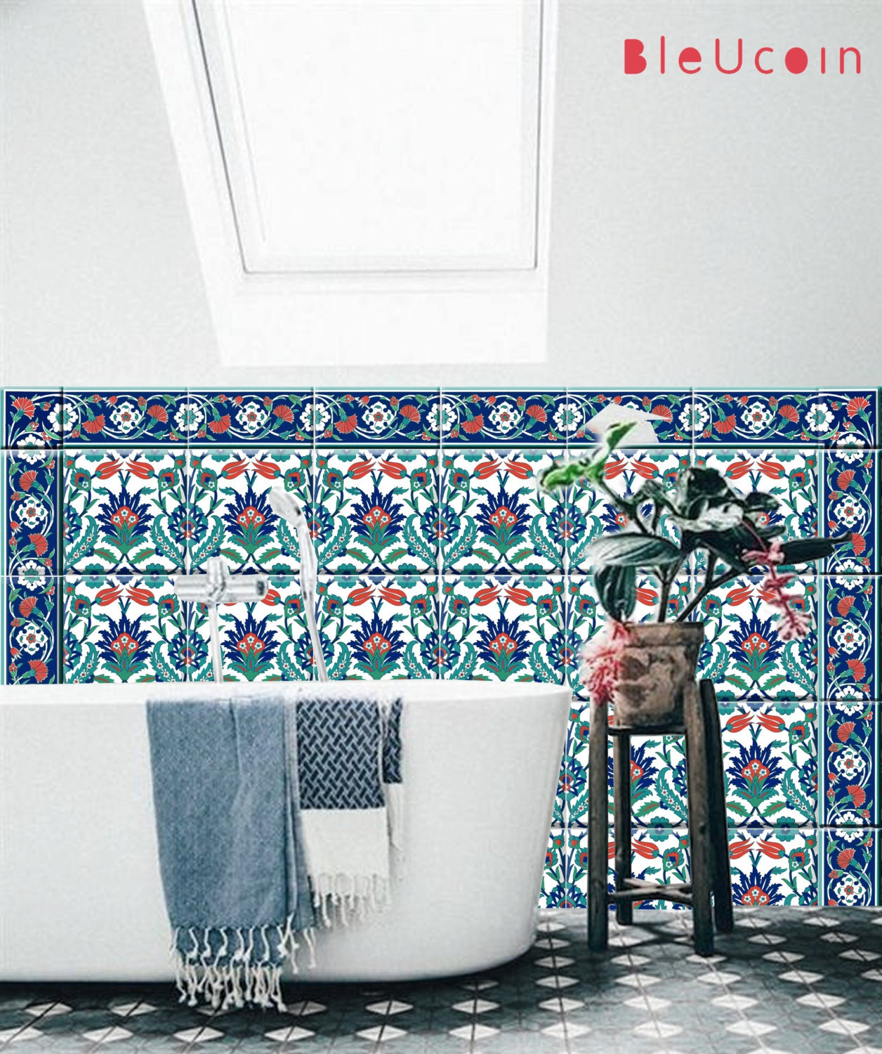 Istanbul Kitchen/ bathroom tile/wall decals Single design
