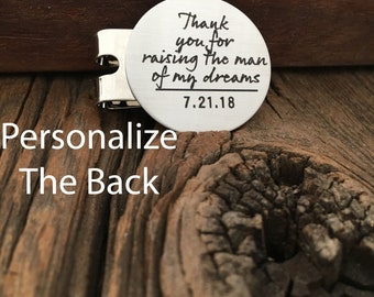 Dad Wedding Gift Thank you For Raising The Man Of My Dreams Golf Ball Marker Gift For Dad Golf Ball Marker For Father In Law Golfers Gift