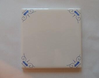 Delfts Blauwe Tegels : Ambachtelijke tegels harlinger aardewerk en tegelfabriek