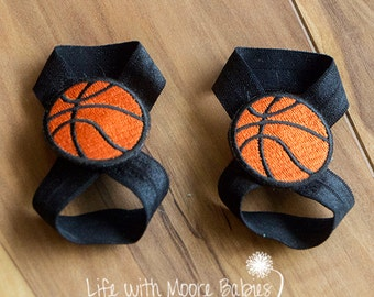 Basketball Patch for Interchangeable Barefoot Baby Sandals