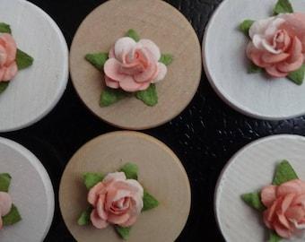 Rose Magnets SET OF 2