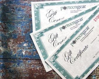 190.00 Gift Certificate for Large Camera Bag 190.00 plus shipping Porteen Gear