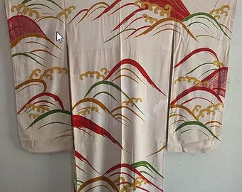 Silk Wave Furisode Kimono