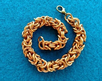 Chain Maille Bracelet, Copper