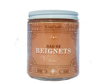 Bag of Beignets Candle With Free Pin Inside