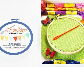 Spring Craft Embroidery Sewing Kit - Kids Craft Kit - Learn To Sew Kit - Gift Idea - My First Sewing Kit - DIY Kit