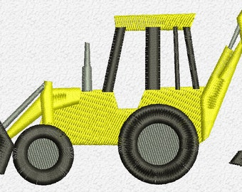 Digger Embroidery Design Instant Download