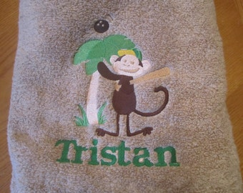 Custom Bath Towel Boy or Girl Your Choice of Colors Personalized FREE with Image