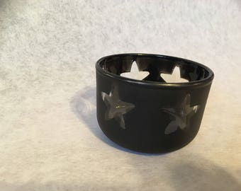 Candle holder hand painted