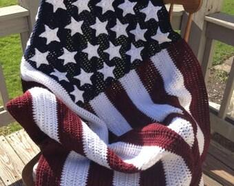 Crochet army blanket etsy american flag crocheted afghan burgundy true white blue for armynavy dt1010fo