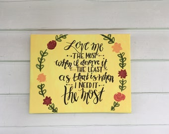 Love Me the Most Quote Painting