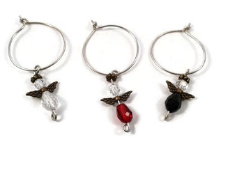 Wine Angels Drink Charms