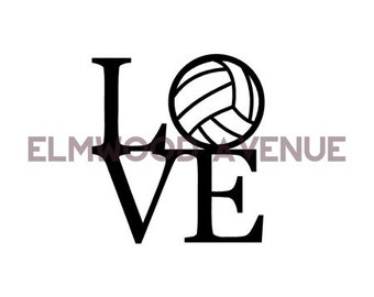Volleyball LOVE decal