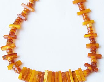Vintage Genuiene Natural Baltic Amber Necklace, Vintage Amber necklace, vintage amber, antique amber