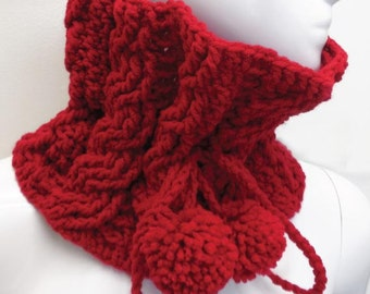 Red Crochet Scarf or Neck Warmen for Women, Perfect for this Winter Time