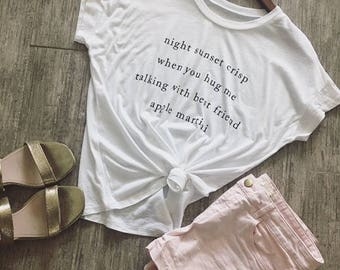 Women's Boxy Flowy Graphic Top With Dreamy Thoughts -Womens  Graphic T-Shirt