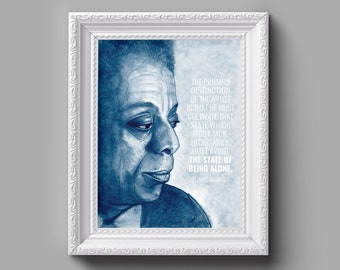 JAMES BALDWIN Portrait Pencil Drawing Art Print - Home Decor, Gift for Her, Gift for Home, Wall Art, Gift for Him, Inspirational Quote