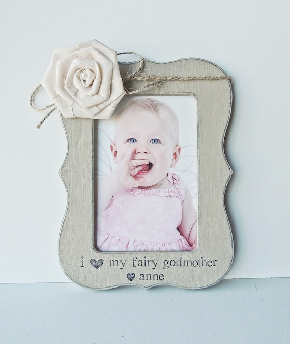 I love my fairy godmother frame personalized gift godmother picture ...