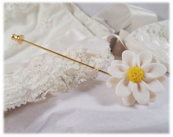 Daisy Brooch or Stick Pin - Daisy Jewelry