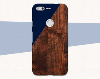 Google Pixel Phone Case, Faux Wood Google Pixel 2 Case, Pixel XL 2, Blue, Gift For Him, Case for Pixel, Google Pixel XL, Pixel 2XL, Original