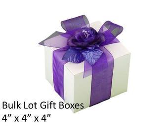 4 x 4 Gift Boxes 5 White Favor Boxes 5x White Gift Boxes Candle Favor Boxes Soap Favor Boxes 5 White Favor Boxes Bulk Pack 5 White Boxes