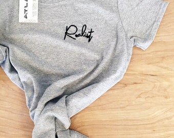 REALIST - hand embroidered t-shirt