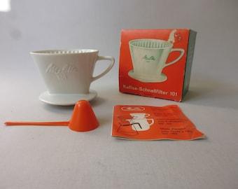 Original 101 Melitta Porcelain Coffee Dripper Coffee Filter 1950 's