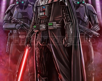 Darth Vader and Death Troopers  (11X17 high quality art print)