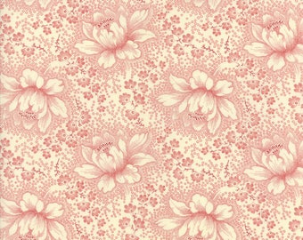 Moda Minick and Simpson Farmhouse Reds Ivory Red Floral Sm Fabric BTY 14850-13