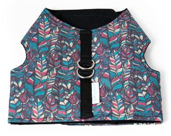 """Dog Vest Harness or Cat Vest Harness """"Feather"""" Harness and Leash Set"""