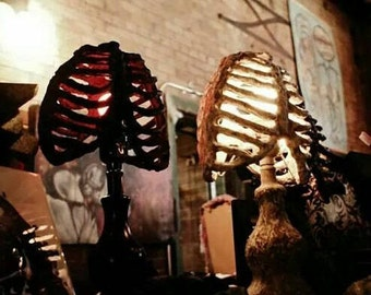 Horror Fan Gothic Rib Cage Lamp