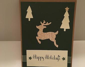 Christmas cards, Happy Holiday cards, handmade