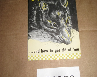 Purina Rat Control Advertising Flyer    [c4900o]