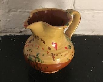 Vintage Studio Pottery Splatter Glaze Jug