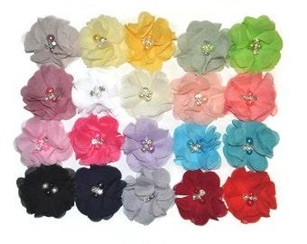 Chiffon Ballerina Flowers, You Choose Quantity & Colours, Wholesale Fabric Flowers, Headband Supplies, DIY Flowers, Flower Embellishment, #7