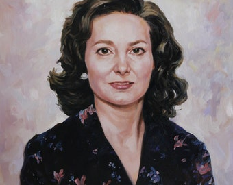 Custom Oil Portrait Painting of Woman from photography