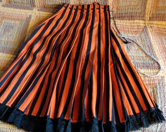 Vintage Woven Folk National Apron/ Romanian Accordion Pleated Skirt/Ethnic clothes/ Embroidered skirt, Peasant Folk Skirt/Vintage clothing