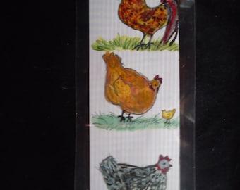 Laminated Chicken bookmark