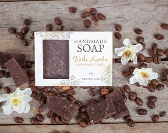 Chocolate coffee soap - exfoliating soap - kitchen soap - coffee lovers gift - soap for men - gift for chocolate lovers - goat milk soap