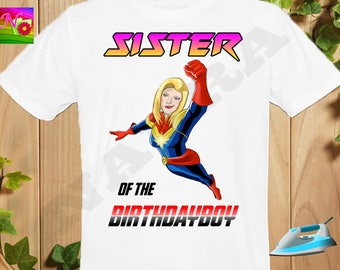 Sister, Sister Iron On Transfer, Iron On Avenger Birthday Sister Shirt, The Avenger Birthday Boy Shirt Iron On Transfer, Instant Download