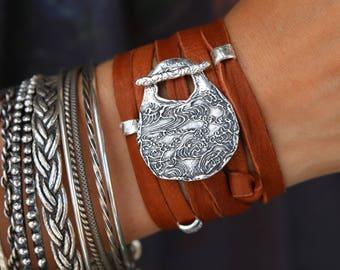 Nautical Jewelry, Ocean Waves Bracelet, Nautical Bracelet, Ocean Waves Jewelry Nautical Wrap Bracelet, Beach Jewelry Ocean Waves Jewelry