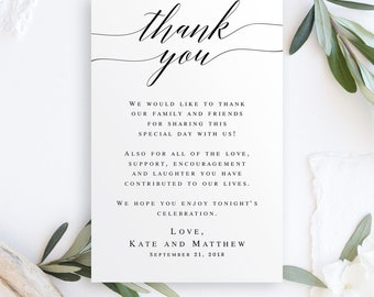 Wedding thank you letters instant download Editable templates Printable thank you templates Editable thank you cards Rustic thank you #vm51