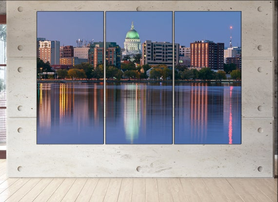 Madison  canvas wall art Madison wall decoration Madison canvas wall art art Madison large canvas wall art skyline canvas wall art