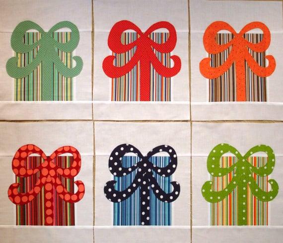Birthday Presents Appliqued Quilt Blocks