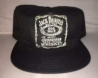 Vintage Jack Daniels Tennessee Whiskey Snapback hat cap trucker 80s MADE IN USA alcohol liquor