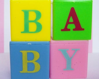 Baby Blocks Cake Toppers