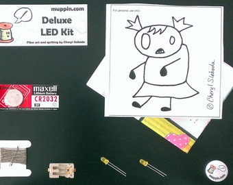 Deluxe LED e-Textile Sewing Kit