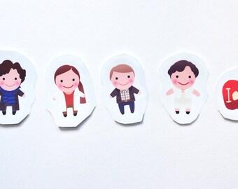Sherlock Holmes Sticker Pack